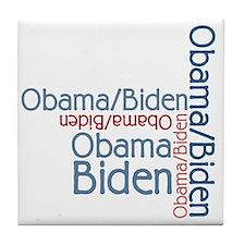Barack Obama Joe Biden Tile Coaster