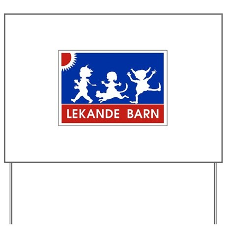 Playing Children Sign, Sweden Yard Sign
