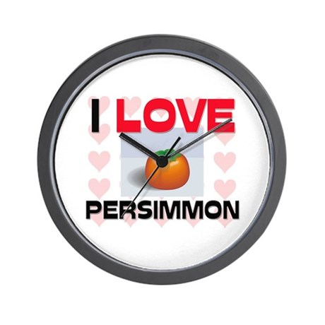 I Love Persimmon Wall Clock