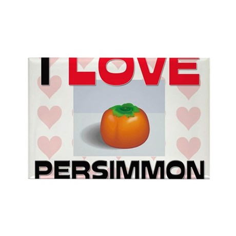 I Love Persimmon Rectangle Magnet