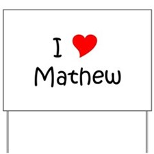 Funny Mathew Yard Sign