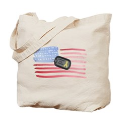 America Support Troops Tote Bag