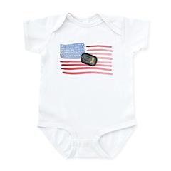 America Support Troops Infant Bodysuit