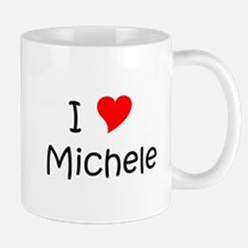 Cute I heart michele Mug