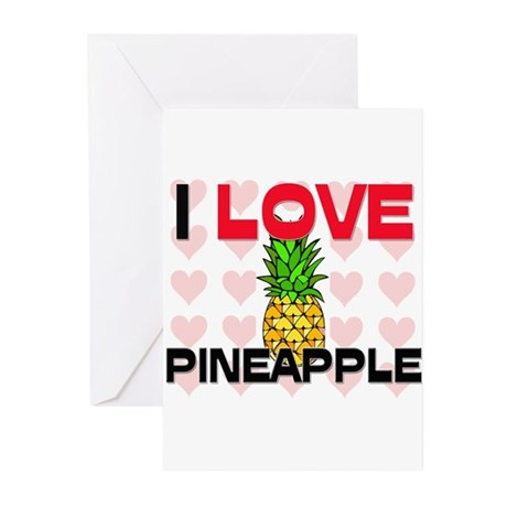 I Love Pineapple Greeting Cards (Pk of 10)