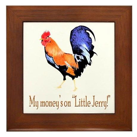 My money's on little Jerry Framed Tile