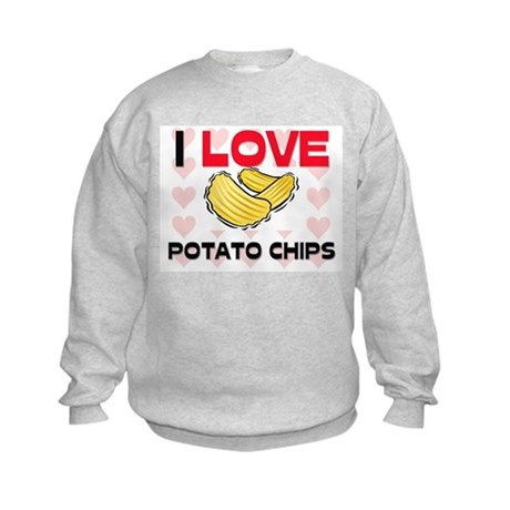 I Love Potato Chips Kids Sweatshirt