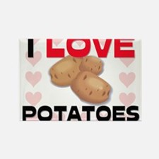 I Love Potatoes Rectangle Magnet