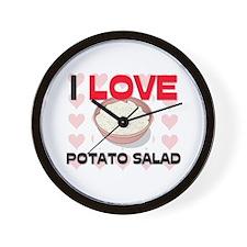 I Love Potato Salad Wall Clock