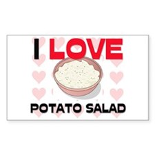 I Love Potato Salad Rectangle Decal