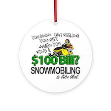 $100 Bill Ornament (Round)