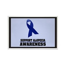 Alopecia Awareness Rectangle Magnet