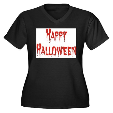 Bloody Halloween Women's Plus Size V-Neck Dark T-S