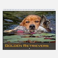 Golden Retriever Field Dog Wall Calendar