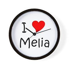 Cool Melia Wall Clock