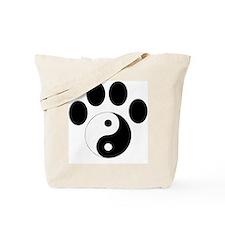 Ying Yang Paw Tote Bag
