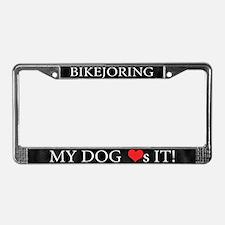 My Dog Loves Bikejoring License Plate Frame