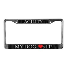 My Dog Loves Agility License Plate Frame