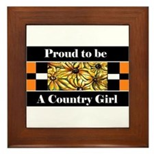 Proud To Be a Country Girl Framed Tile
