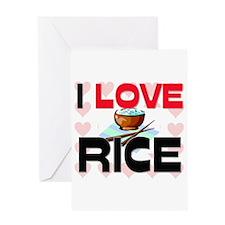 I Love Rice Greeting Card