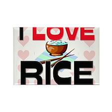 I Love Rice Rectangle Magnet