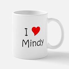 Cute I heart mindy Mug