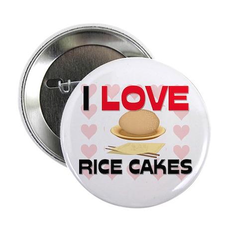 "I Love Rice 2.25"" Button"