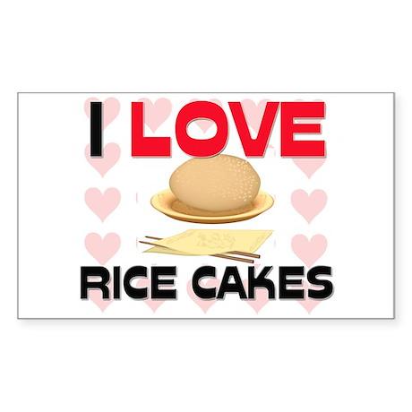 I Love Rice Rectangle Sticker
