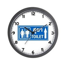 Toilet, Thailand Wall Clock
