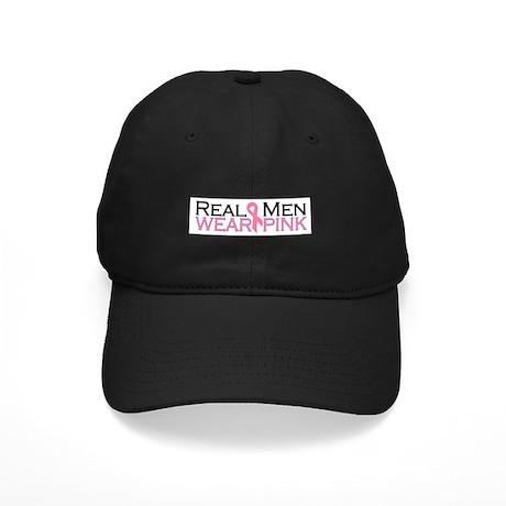 Real Men Wear Pink Black Cap