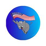 "Republican Elephant 3.5"" Button"