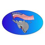 Republican Elephant Oval Sticker