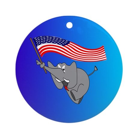 Republican Elephant Ornament (Round)