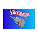 Republican Elephant Mini Poster Print