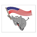 Republican Elephant Small Poster