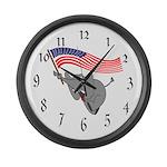 Republican Elephant Large Wall Clock