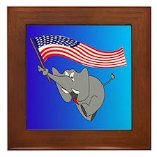 Republican Elephant Framed Tile