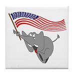 Republican Elephant Tile Coaster