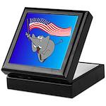 Republican Elephant Keepsake Box