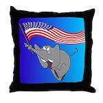 Republican Elephant Throw Pillow