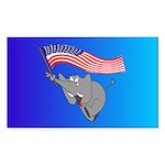 Republican Elephant Rectangle Sticker 10 pk)