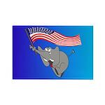 Republican Elephant Rectangle Magnet (100 pack)