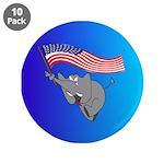 "Republican Elephant 3.5"" Button (10 pack)"