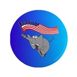 "Republican Elephant 3.5"" Button (100 pack)"