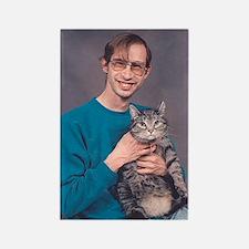 i loves me kitteh guy - cat Magnet