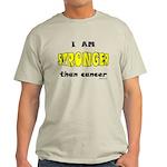 Stronger Than Cancer (yellow) Light T-Shirt