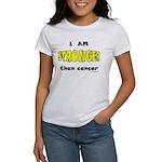 Stronger Than Cancer (yellow) Women's T-Shirt