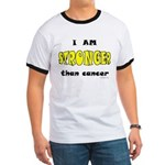 Stronger Than Cancer (yellow) Ringer T