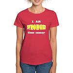 Stronger Than Cancer (yellow) Women's Dark T-Shirt