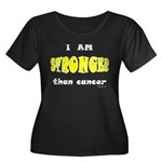 Stronger Than Cancer (yellow) Women's Plus Size Sc